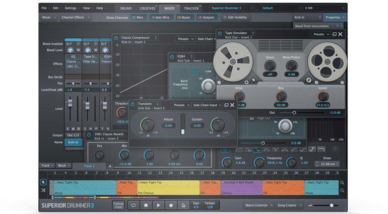 toontrack superiordrummer3 mixer