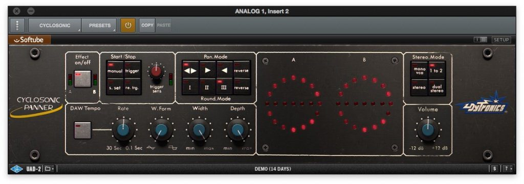 UAD Cyclosonic GUI