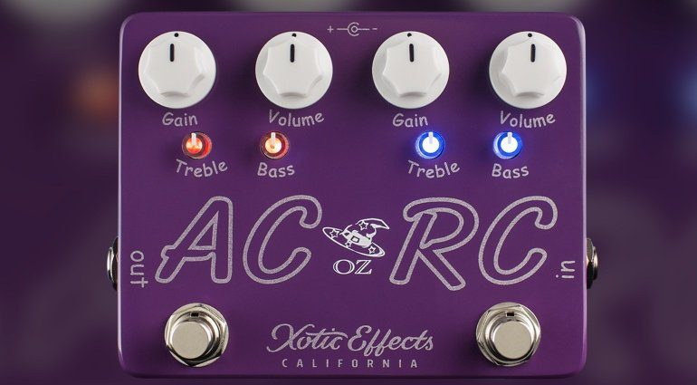 Xotic Effects AC RC OZ Signature Effekt Pedal Front