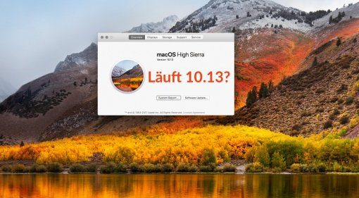 Apple macOs 10.13 High Sierra Update