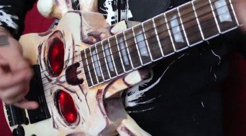 Devil Sons Skull and Crossbones guitars