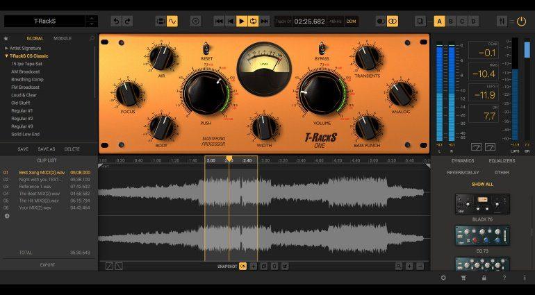 IK Multimedia T-RackS 5 - großes Update der Mastering-Suite