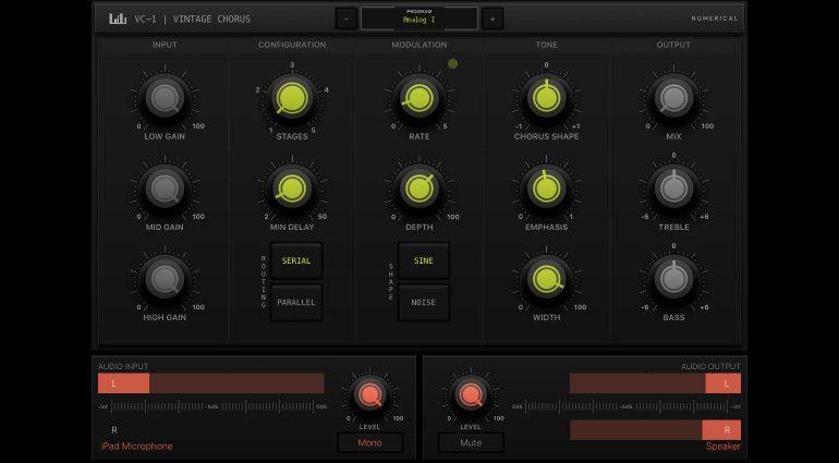 Numerical Audio VC-1 - Multistage iOS Chorus