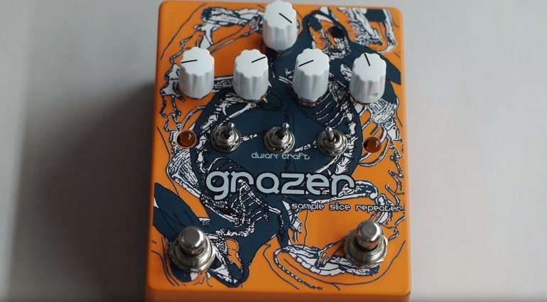 Dwarfcraft Devices Grazer Sampler Grainer Front Pedal