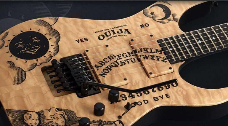 ESP-Kirk-Hammett-limited-edition-quilted-maple-Ouija-Board