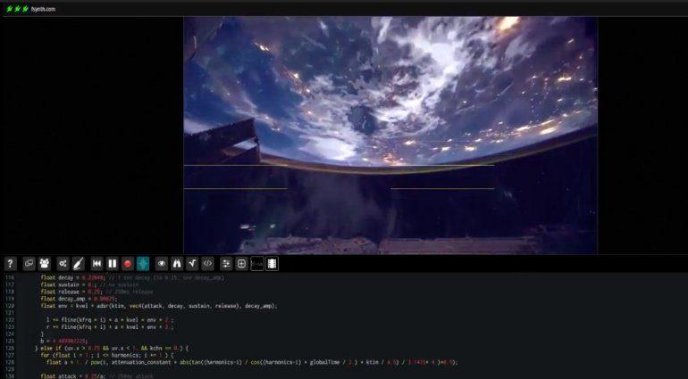 FSynth Fragment - kostenloser Granular-Additiv-Spectral-Audio-Visueller Synth
