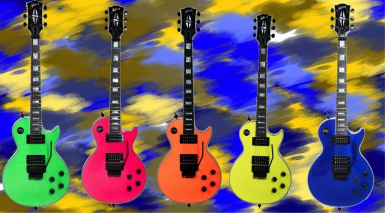 Gibson Neon Modern Les Paul Axcess Custom