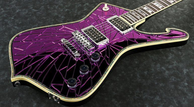 Ibanez PS2CM Paul Stanley limited editionwith purple cracked mirror finish