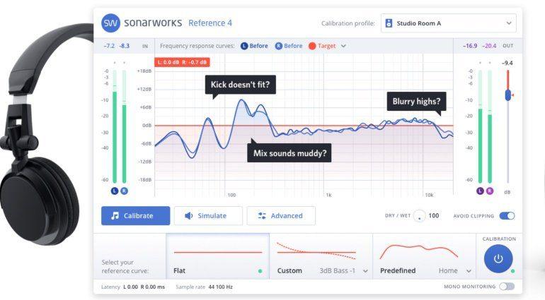 sonarworks reference 4 monitor kalibrierung jetzt latenzfrei. Black Bedroom Furniture Sets. Home Design Ideas