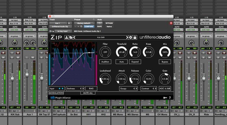 Unfiltered Audio Zip - Komprimieren mit Modulation