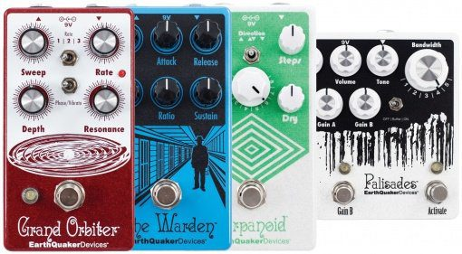 Earthquaker Devices Arpanoid Grand Orbiter The Warden Palisades Pedals Udpate Teaser