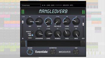 Eventide H9 MangledVerb Reverb Overdrive PLug-in GUI Bitwig Teaser