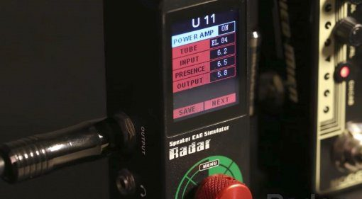 Mooer Radar Speaker Cab Simulator PEdal Front Close Up