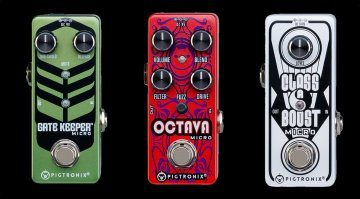 Pigtronix Gate Keeper Micro Octava Micro Class A Boost Micro Effekt Pedal Front