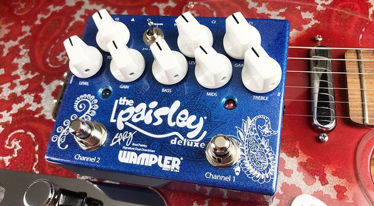 Wampler Paisley Drive Deluxe Overdrive Pedal Front Telecaster