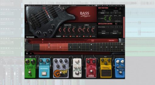 Waves Bass Slapper Plug-in GUI Studio One