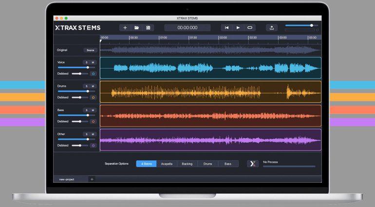 Audionamix Xtrax Stems zerlegt jeden Song in seine Einzelteile - jetzt im Abo!