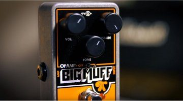Electro Harmonix OP Amp Big Muff Pedal Front Close