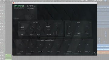 Klevgr Grand Finale Effekt Plug-in GUI