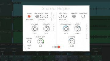 Press Play Stereo Helper PLug-in GUI