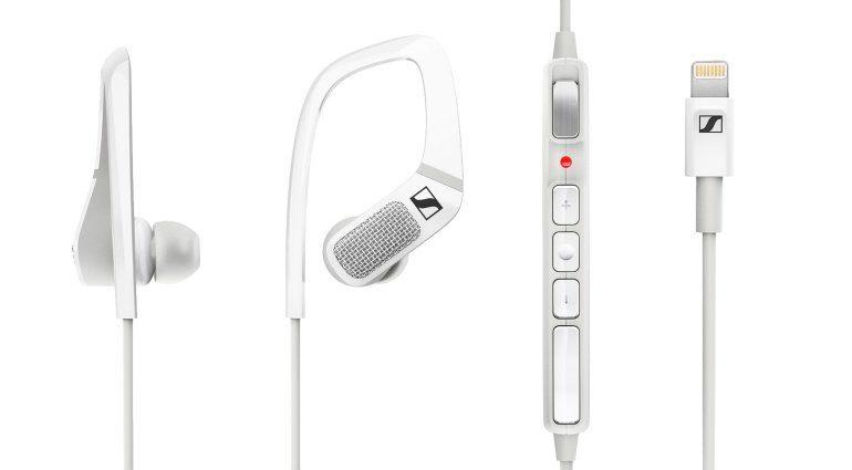 Sennheiser Apogee Ambeo Smart HEadset White Front Binaural RecordingSennheiser Apogee Ambeo Smart HEadset White Front Binaural Recording
