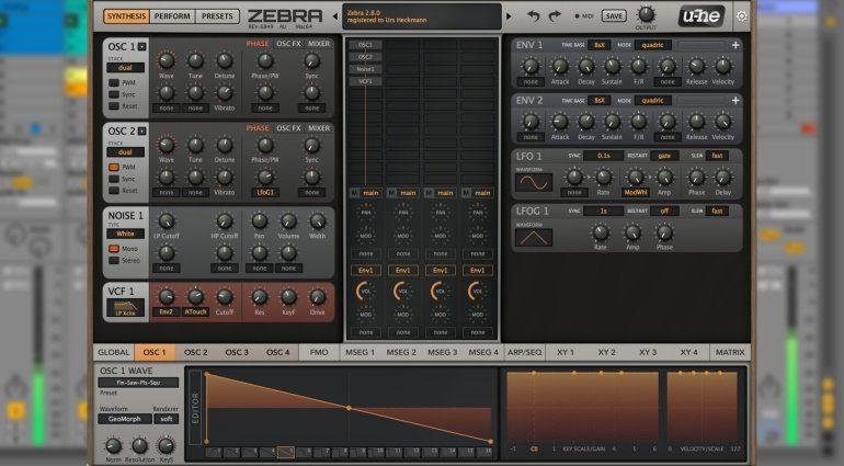 U-He veröffentlicht Public Beta von Zebra 2.8