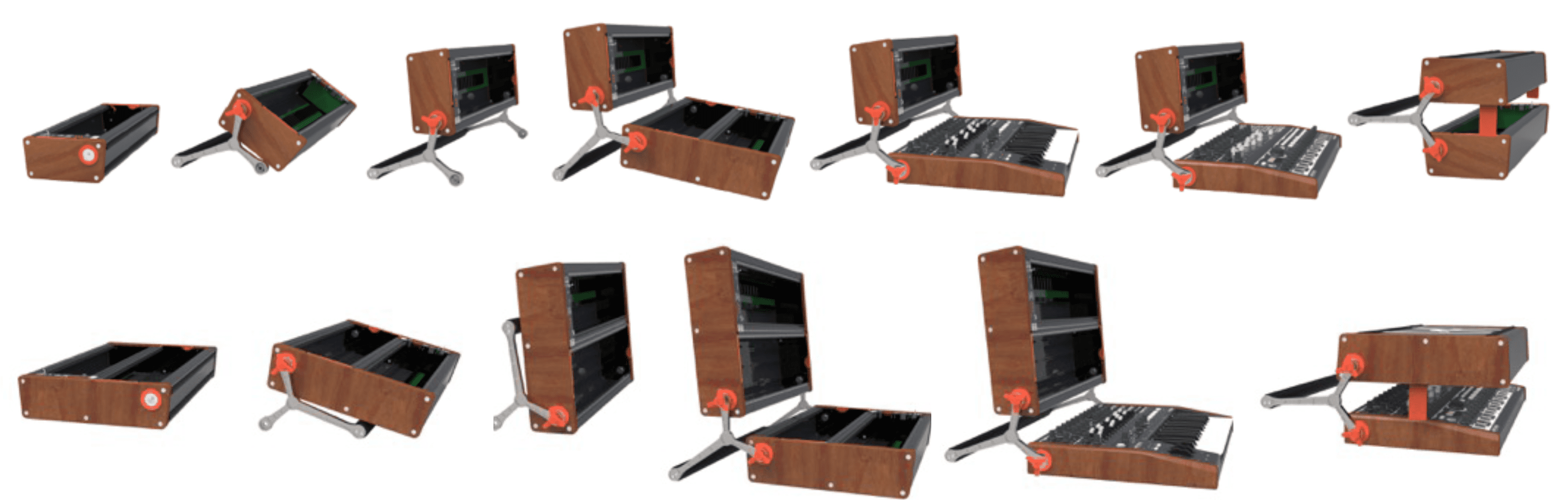 arturia rackbrute eurorack klapp system f r minibrute. Black Bedroom Furniture Sets. Home Design Ideas