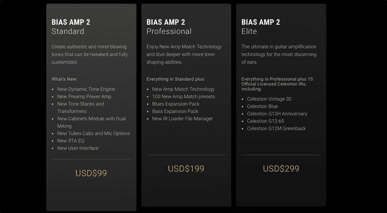Bias Amp 2 Plug-in Versions