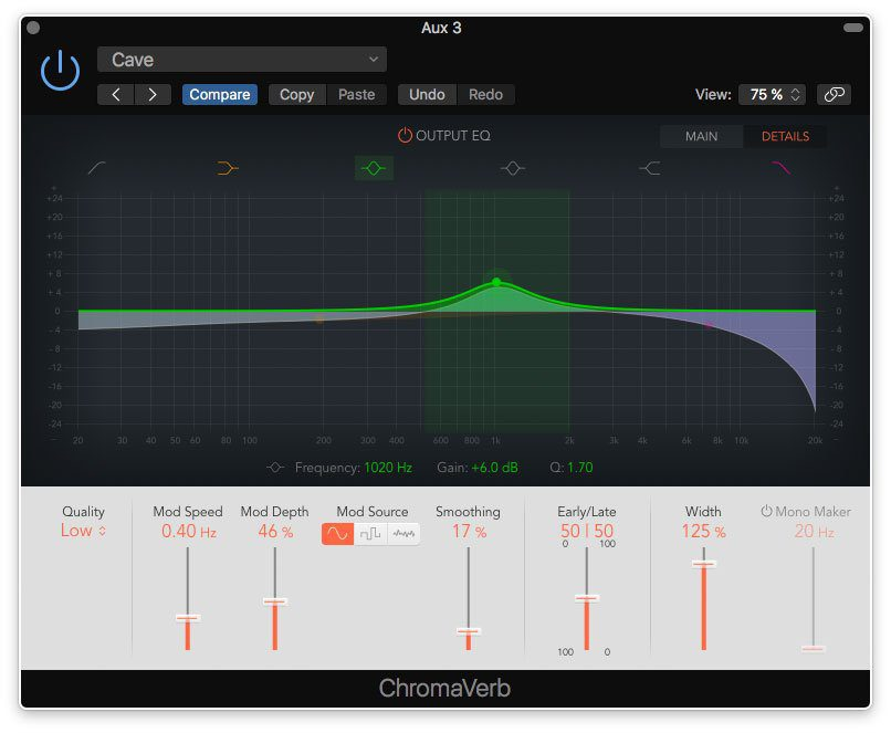 ChromaVerb Output-EQ