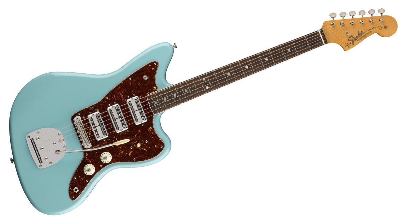 Fender 60th Anniversary Jazzmaster Daphne Blue Fornt 3 Toaster Humbucker