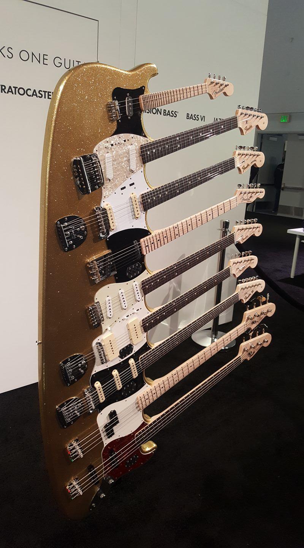 Fender 9 Neck E-Gitarre E-Bass NAMM 2018 Original