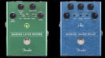Fender Marine Layer Reverb Mirror Image Delay Pedale Leak Gearnews NAMM 2018