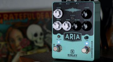 Keeley Aria Compressor Overdrive PEdal Front