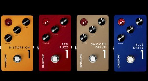 Lunastone Red Fuzz Smooth Drive Blue Drive Distortion Pedale Front Teaser