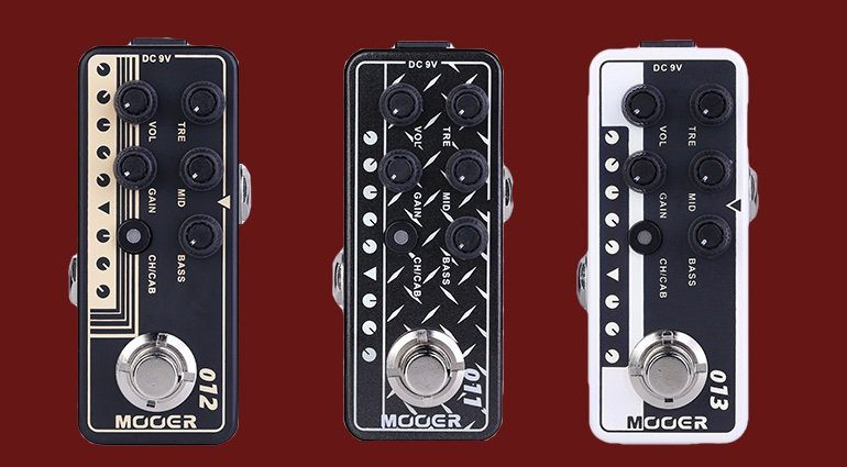 Mooer Micro Preamp Pedals 011 012 013 Front Teaser