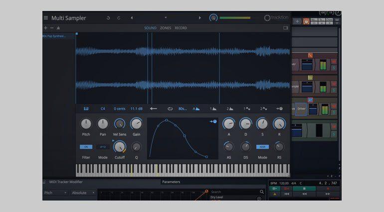 tracktion waveform9 sampler