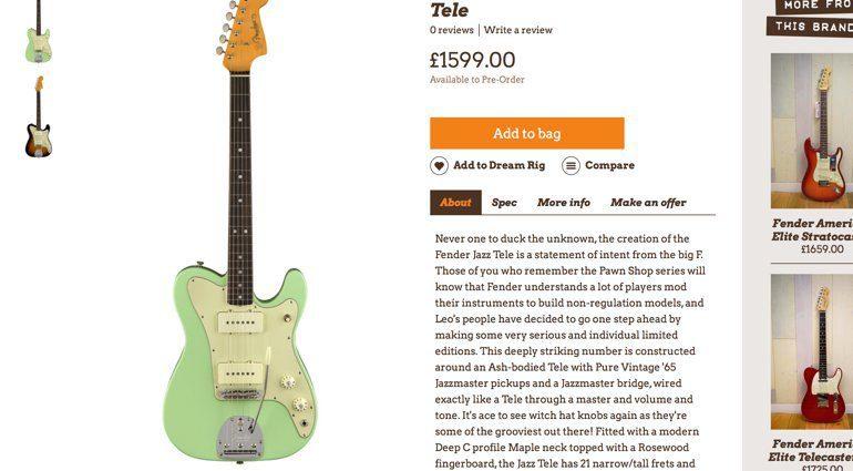 Wunjo Guitar leakt Fender Jazz Tele