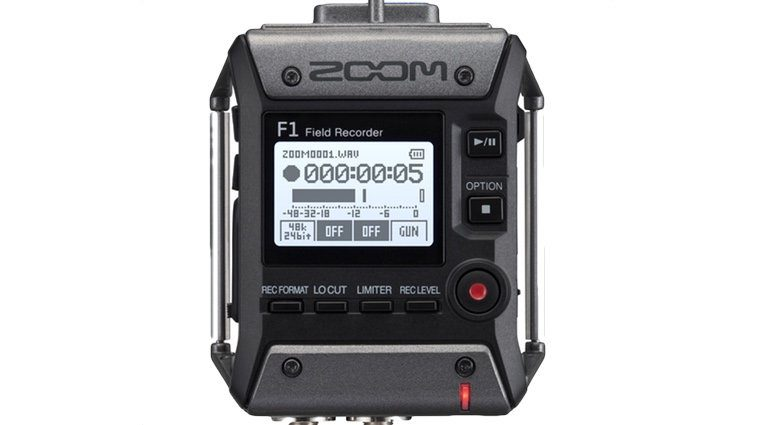 Zoom F1 Field Recorder Front