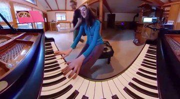 360 Grad Klavier Video