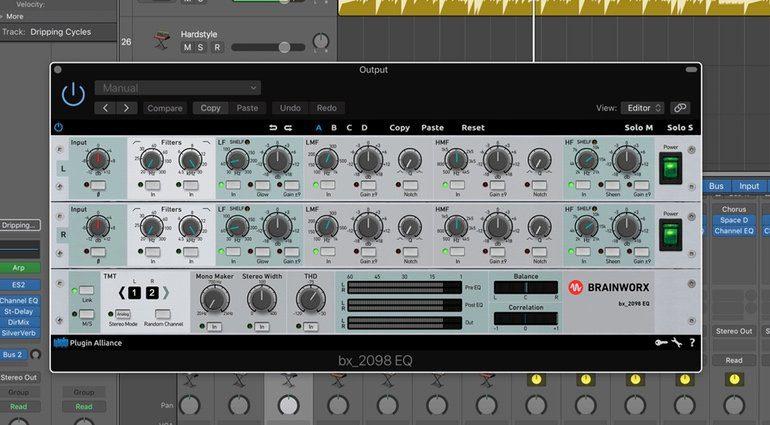 Brainworx bx_2098 EQ PLug-in GUI Logic