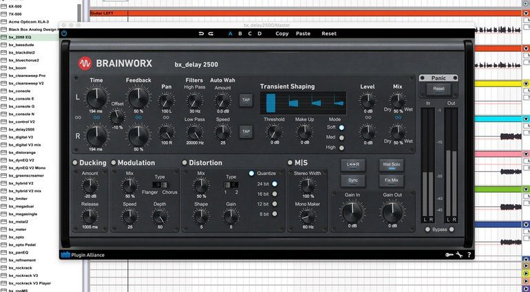 Brainworx bx_delay 2500 PLug-in GUI Ableton Live