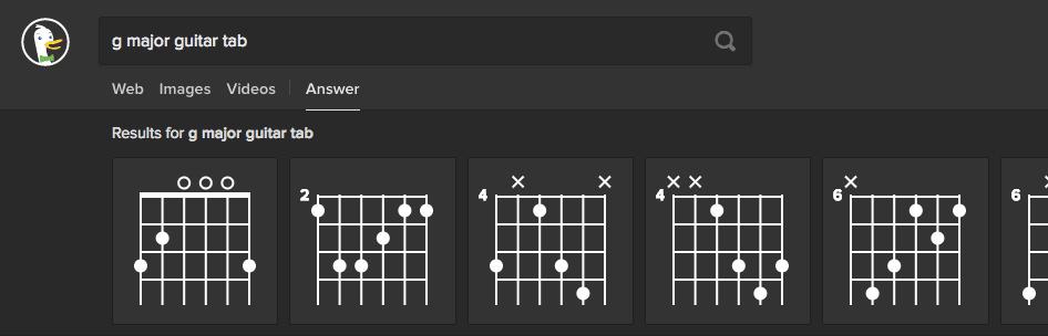 DuckDuckGo Gitarren Tab