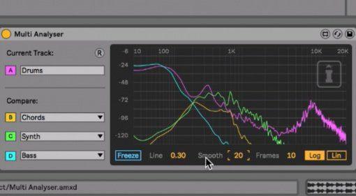 Messen über verschiedene Kanäle - Isotonik Studios Multi Analyzer