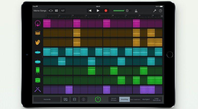Apple GarageBand iOS steuert Musik mit eurem Gesicht