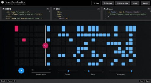 Neural Drum Machine baut euch die Beats - im Browser!