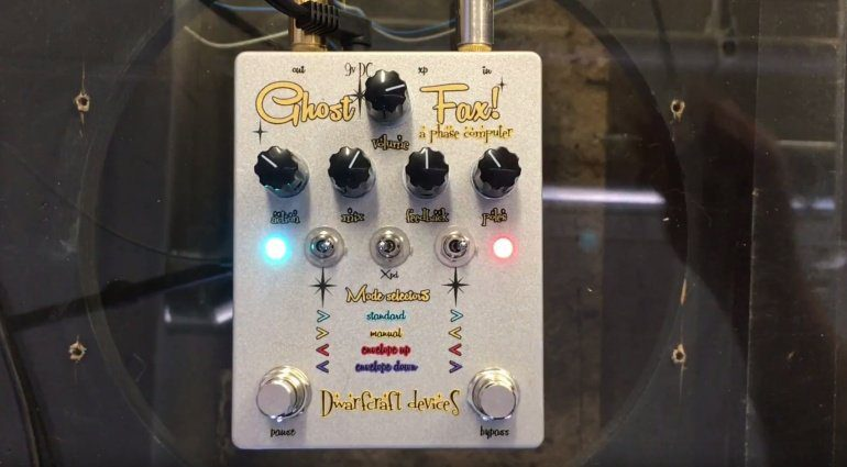 Dwarfcraft Devices Ghost Fax Phase Computer Phaser Pedal Front