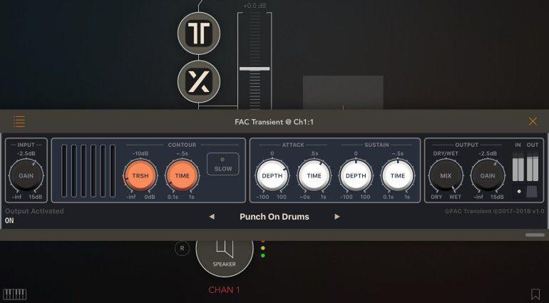 FAC Transient - der Transient Designer für iOS