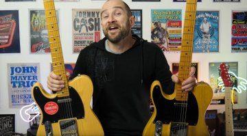 Fender vs Squier Telecaster Shootout Video