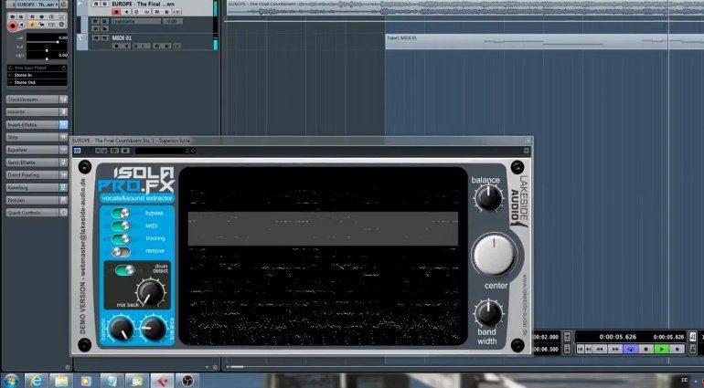 Isola Pro FX isoliert Instrumente und Vocals aus Audiodaten