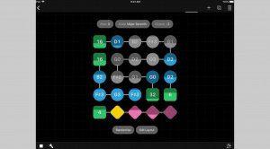 Grid Music ist ein farbiger Baukasten iOS Sequencer